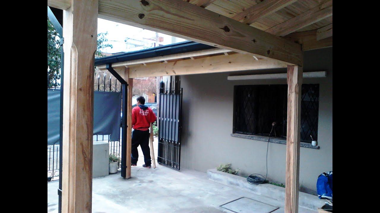 Madera a la vista y chapas prepintadas youtube for Canaletas para techos de madera