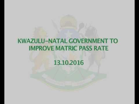 KZN Provincial Government to improve Matric Pass Rate
