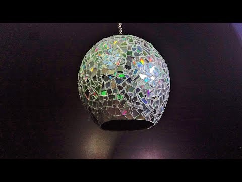 How to make a lamp with paper - DIY Lamp - CD Craft - Paper Craft