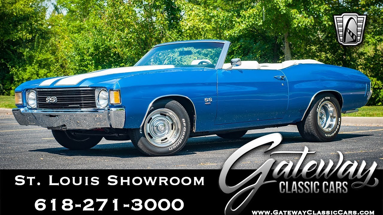 1972 Chevrolet Chevelle (SS Tribute) Convertible Gateway Classic Cars St   Louis #8188