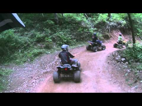 Hatfield McCoy rock house trail riding in wv. 2015