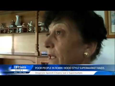 Poor People in Robin Hood style Supermarket Raids