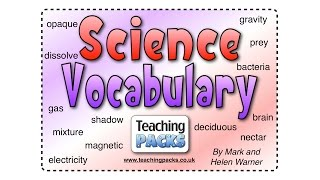 The Science Vocabulary Pack - Teaching Resources