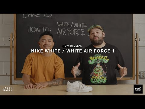 SNEAKER CARE 101: HOW-TO CLEAN WHITE/WHITE AIR FORCE 1