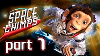 Space Chimps Walkthrough Part 1 (Xbox 360, PS2, Wii, PC) ~ 100% ~ Level 1