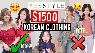 Try-On Haul: $1500 OF KOREAN CLOTHES ON YESSTYLE! | Was it worth it?