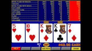 Video Poker Part 4 - Deuces Wild (FPDW)