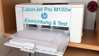 HP LaserJet Pro M102w - AirPrint Laserdrucker im Test [Deutsch/German]
