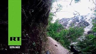 Turistas graban la avalancha que sepultó un pueblo en Nepal