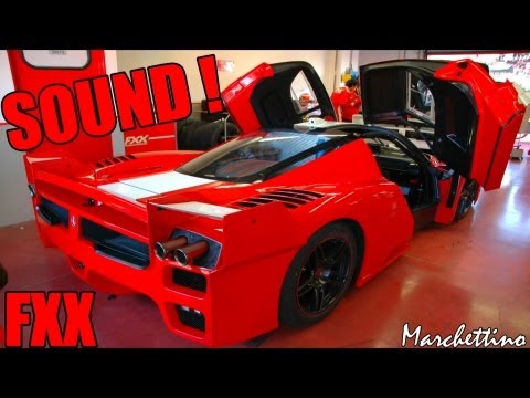 Ferrari FXX EVO Brutal SOUND! - Start, Rev...