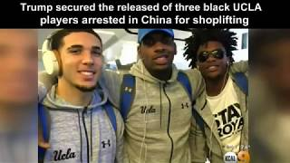 President Trump secured the released of three black UCLA basketball players