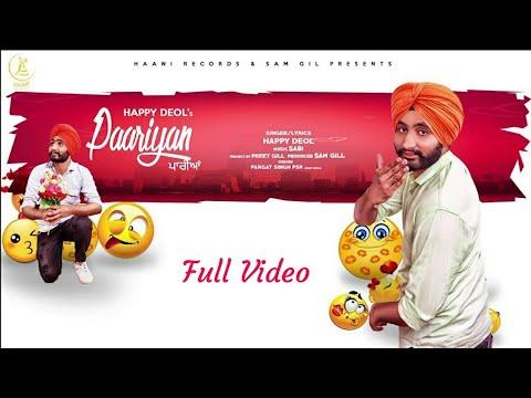 Paariyan|Happy Deol|Full Video Song|Jatt Media|Leatest New Punjabi Song