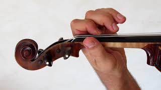 Volume 1 lesson 058 / 133 - Exercises Lady mum in A - Learning french Violin