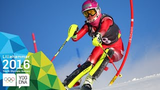 Alpine Combined - Aline Danioth (SUI) wins Ladies' gold | ​Lillehammer 2016 ​Youth Olympic Games​