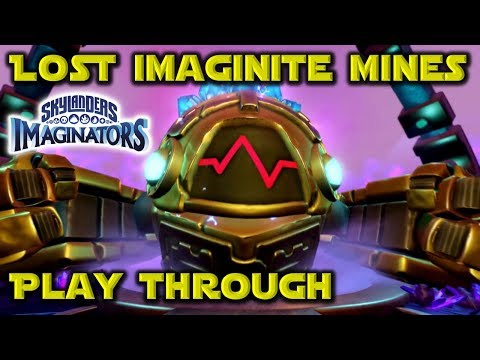 Skylanders Imaginators - LOST IMAGINITE MINES Level Pack PLAY THROUGH with Master Ro-Bow