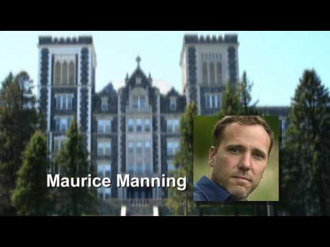 Poet Maurice Manning reading at St. Scholastica