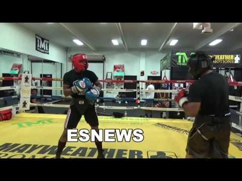 sparring at floyd mayweather gym EsNews Boxing