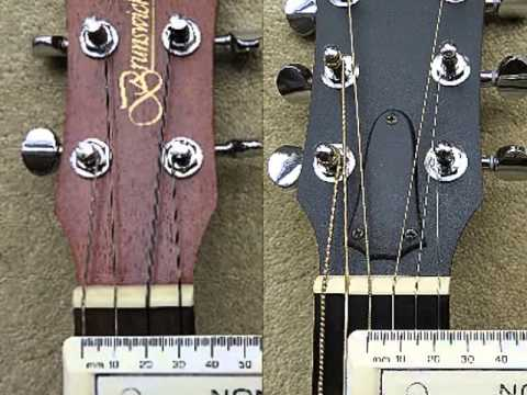 string spacings for a 6 string guitar and two baritone ukuleles youtube. Black Bedroom Furniture Sets. Home Design Ideas