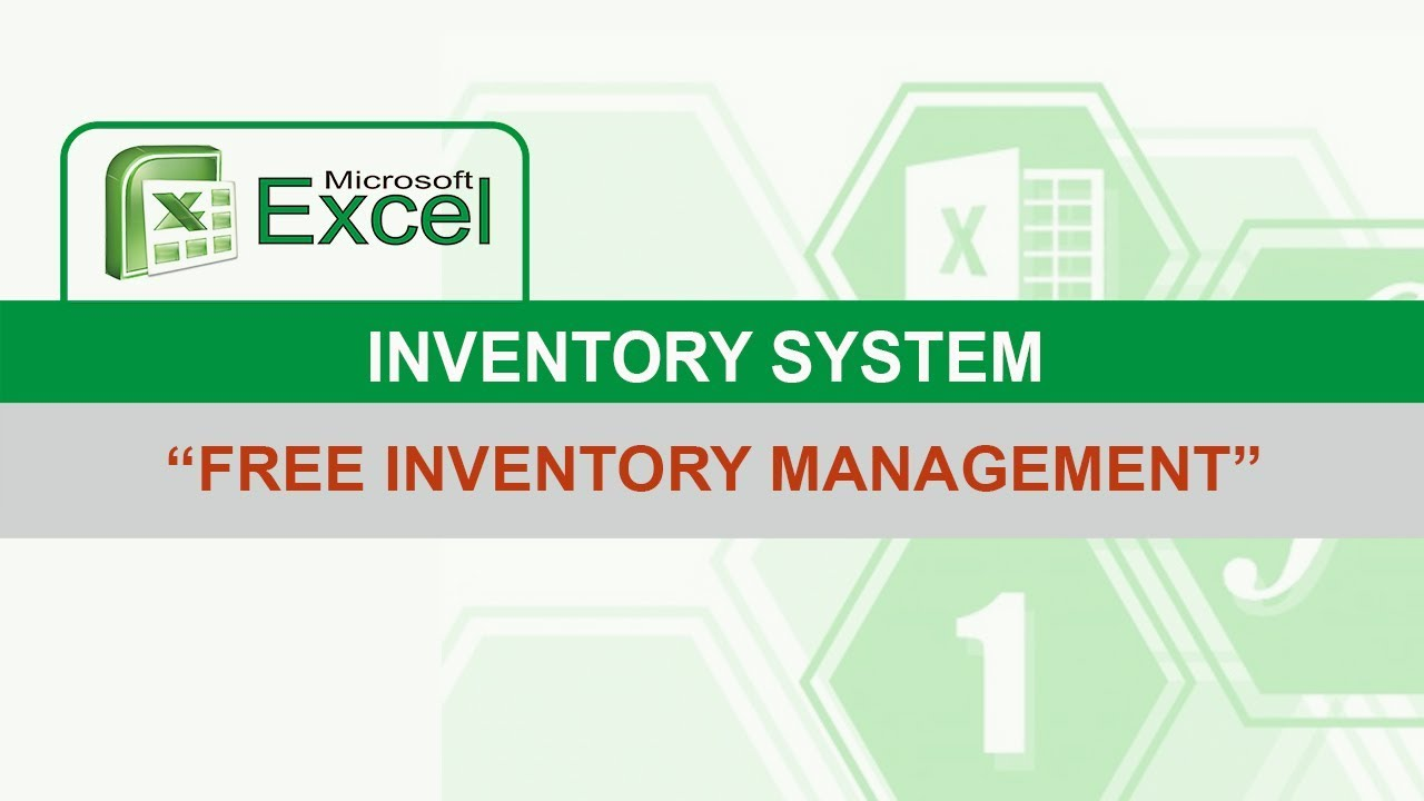 excel inventory system  free download
