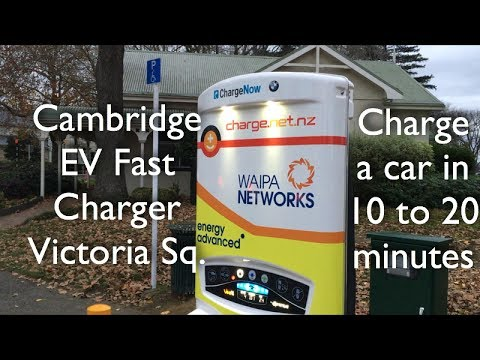 Cambridge EV Electric Car Fast Charger Waikato New Zealand