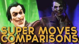 ALL Injustice Gods Among Us & Injustice 2 Super Moves (All Super Moves Comparison)