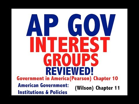 AP GOV Review Chapter 10 Interest Groups