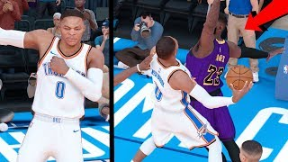 RUSSELL WESTBROOK MONSTER DUNK ON LEBRON!! NBA 2k19 MyCAREER Ep. 46