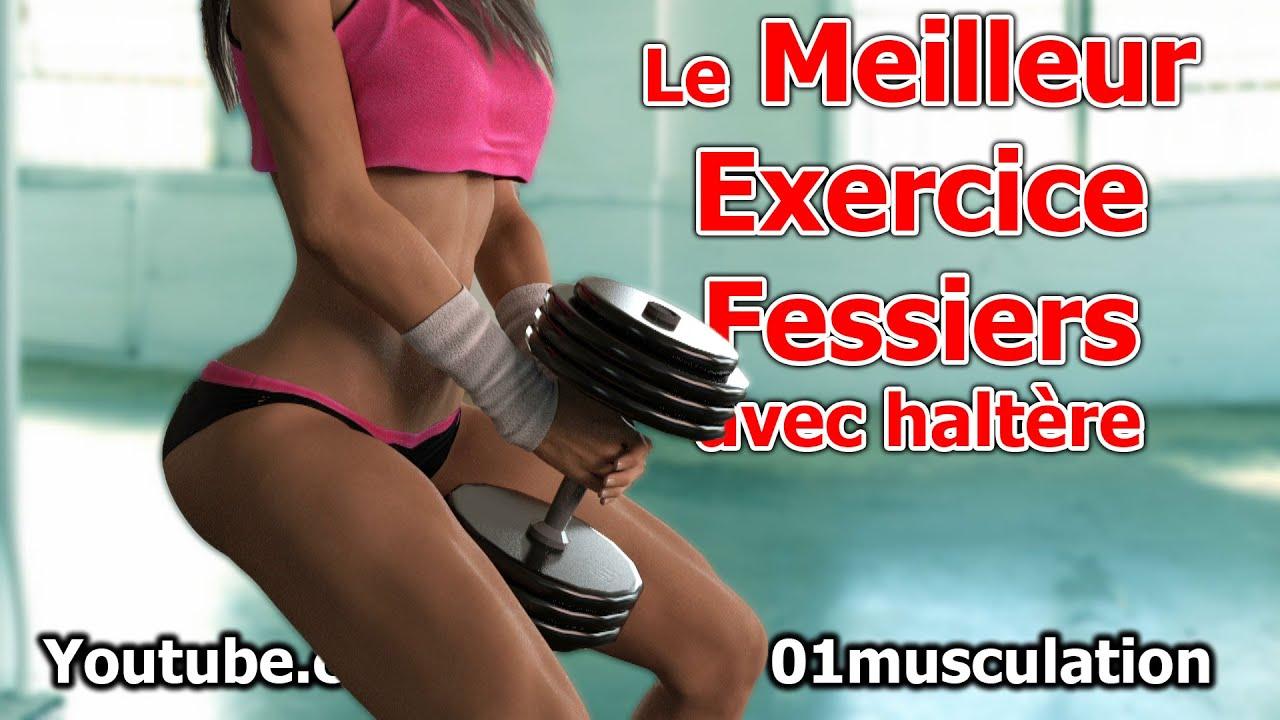 Le Meilleur Exercice Fessier avec 1 haltère - YouTube