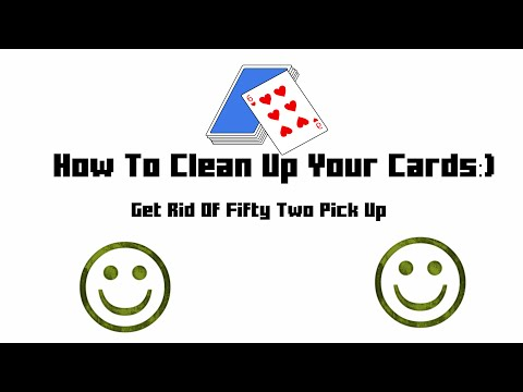 How To Clean Cards Up Fast!
