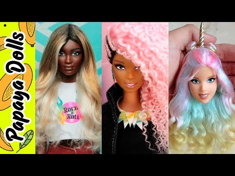Stunning Hairstyles Transformation of Barbie  How to curl Barbie hair