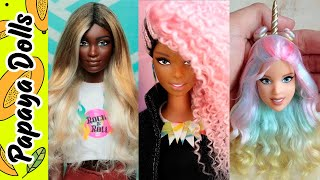 Stunning Hairstyles Transformation of Barbie| How to curl Barbie hair