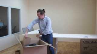 Упаковка в коробку автоматического туалета Литтер-Робот, Litter-Robot.ru