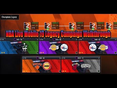 NBA Live Mobile 19 Legacy Campaign Walkthrough - Champions Legacy