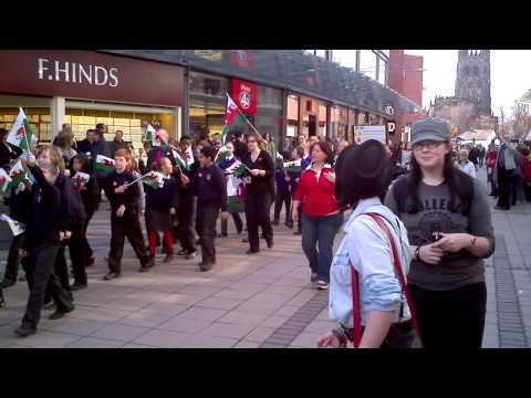 Wrexham (wrecsam) St Davids day Parade 2012