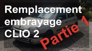 Remplacement d'un embrayage et boite de vitesse sur une Renault Clio 2 + dépose berceau : Partie 1