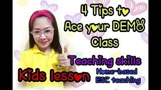 Tips For Online Demo Teaching ( 51talk Demo ) ( Esl Demo   Kids Lesson ) (tagalog/english)