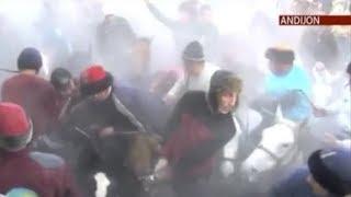Андижон: Улоқ пайтида журналистни от тепди!