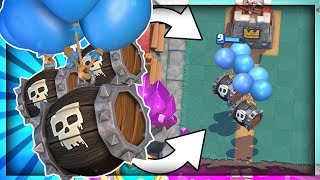 NEW CARD is HERE!! SKELETON BARREL - 9 WIN CHALLENGE!! - Clash Royale
