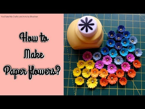 #paperflowers #easycrafts How to make paper flowers from craft punch machine? | DIY craft flowers