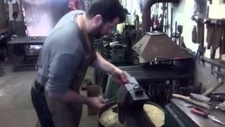 Výroba kované růže. Production iron roses #kovartoni