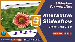 Interactive slide show tutorial 03 - Coding basic structure of interactive slide show