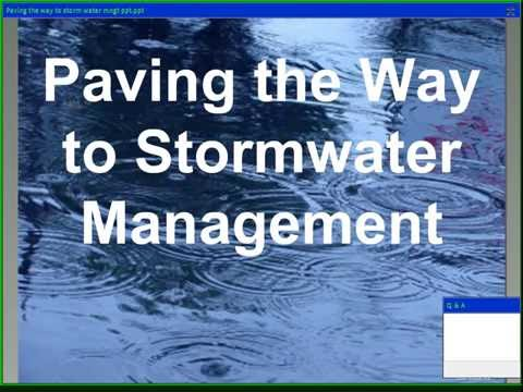 Repaired Paving the way to storm water management