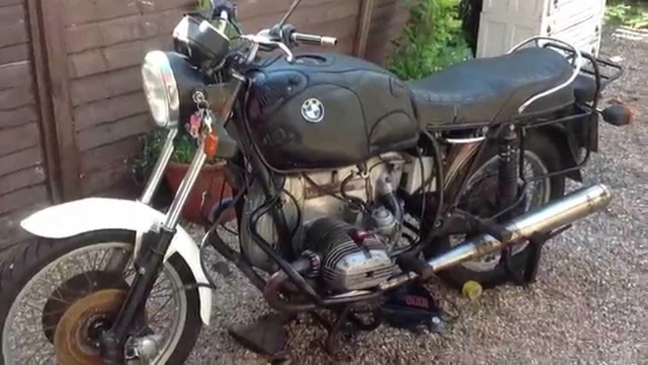 HD  Bmw r100/7, first start after engine rebuild, 1976