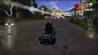 Grudge Match 1 - ModNation Racers Gameplay