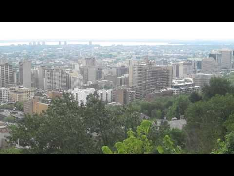 Dowtown Montreal from Mont Royal  July 2013