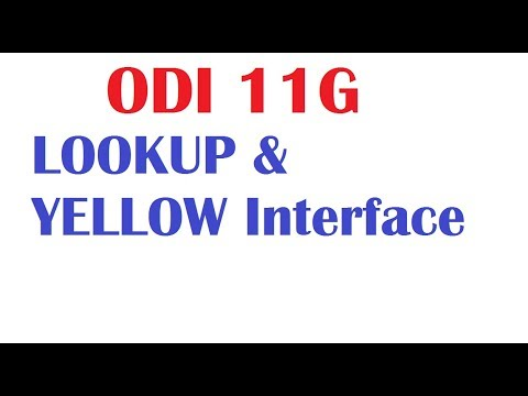 Oracle Data Integrator Interface with Lookup, Yellow Interface and Excel file loading with examples