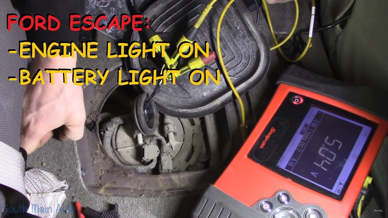 Ford Escape Engine Light Battery On Youtube 2006 Focus Alternator Location Replace In 1998