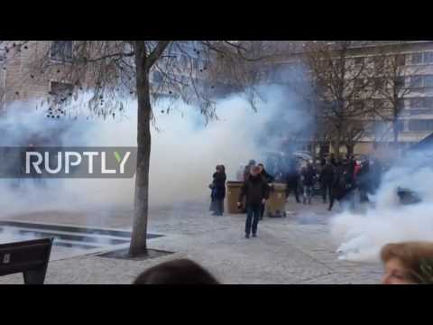 France: Running battles in Rouen at anti-police brutality rally