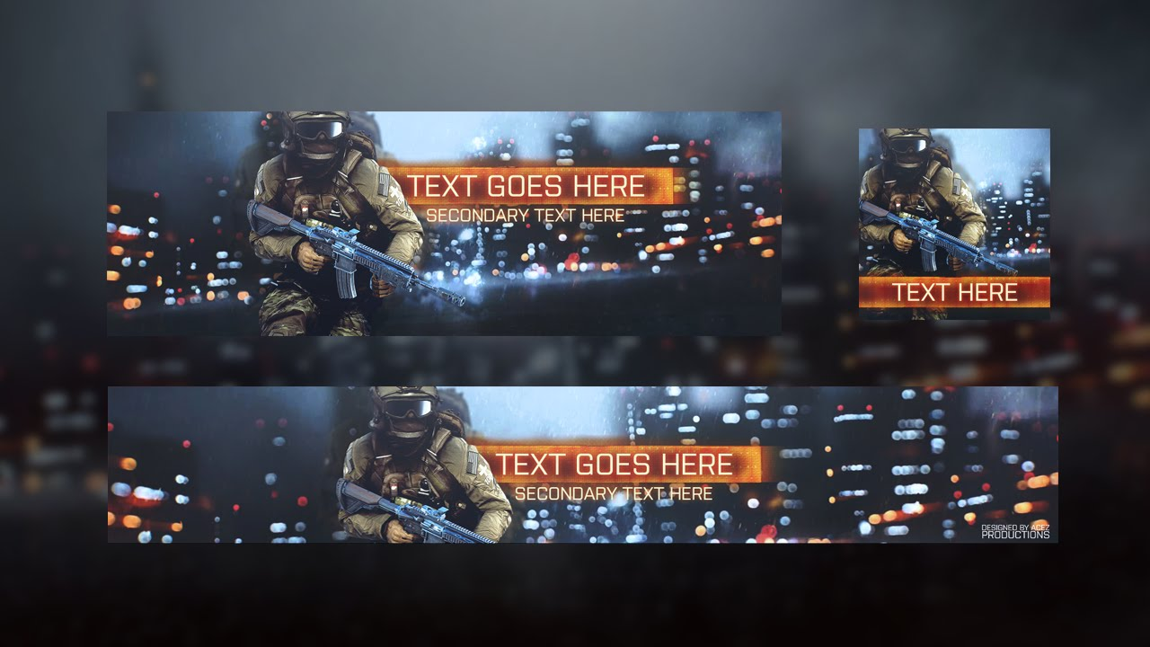Free Battlefield 4 Revamp [Free Youtube Banner Template] - YouTube
