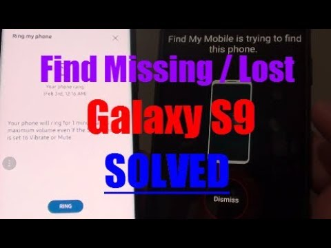Samsung Galaxy S9: How to Track and Locate Missing Device (Find My Mobile)